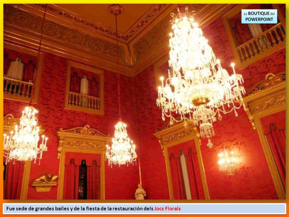 Con motivo del matrimonio del Archiduque Carlos de Austria y la princesa alemana Isabel Cristina de Brunswick, el Palacio de la Llotja de Mar de Barce