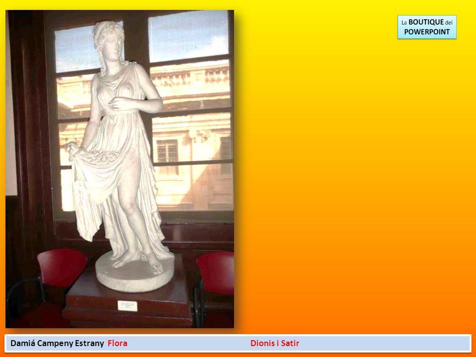 La Llotja barcelonesa conserva la colección más importante de escultura neoclásica obra de uno de los grandes escultores catalanes, Damià Campeny i Es