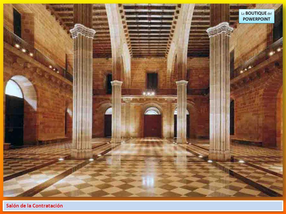 El Saló de Contratacions El núcleo gótico de la Casa Llotja de Mar, formado por los salones de Contratacions y de Cònsols, es de final del siglo XIV H