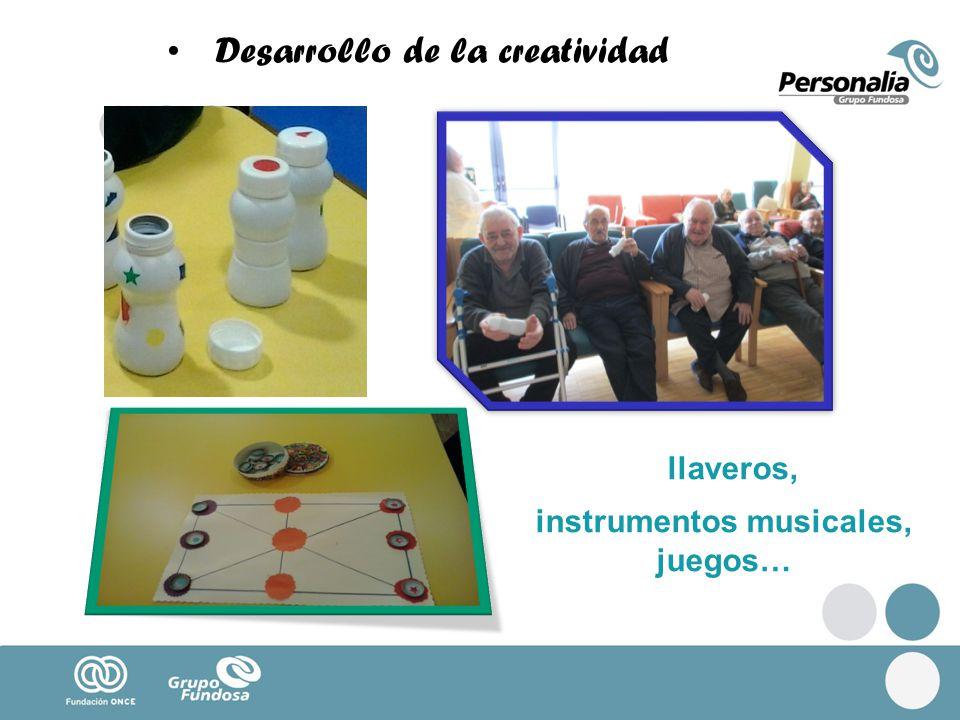 Desarrollo de la creatividad llaveros, instrumentos musicales, juegos…