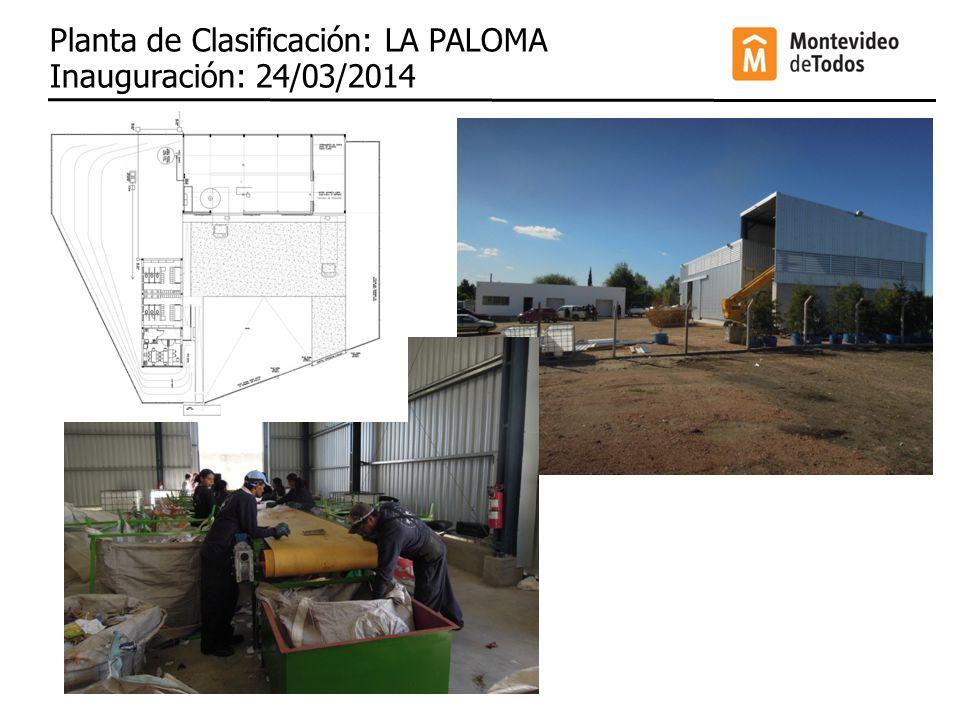 Planta de Clasificación: LA PALOMA Inauguración: 24/03/2014
