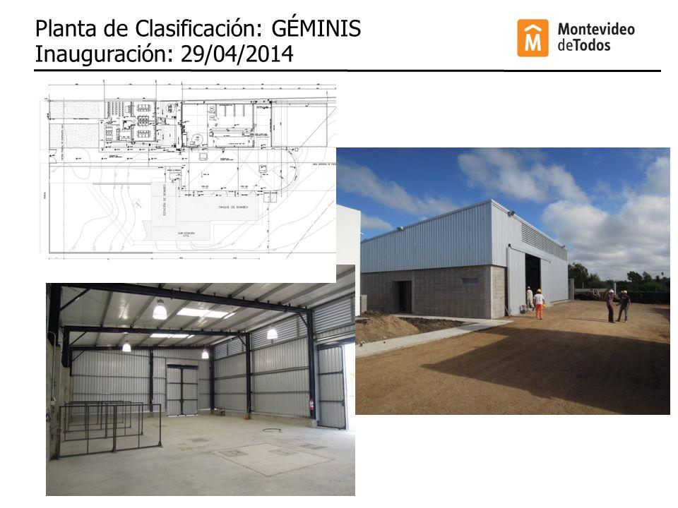 Planta de Clasificación: GÉMINIS Inauguración: 29/04/2014