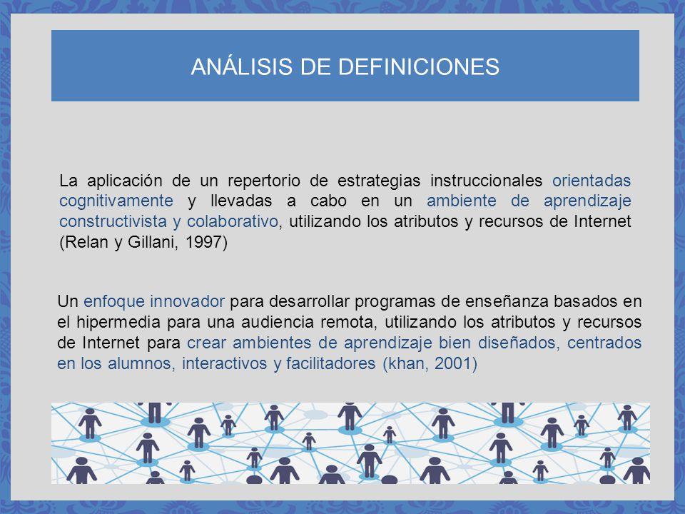 ANÁLISIS DE DEFINICIONES Un enfoque innovador para desarrollar programas de enseñanza basados en el hipermedia para una audiencia remota, utilizando l