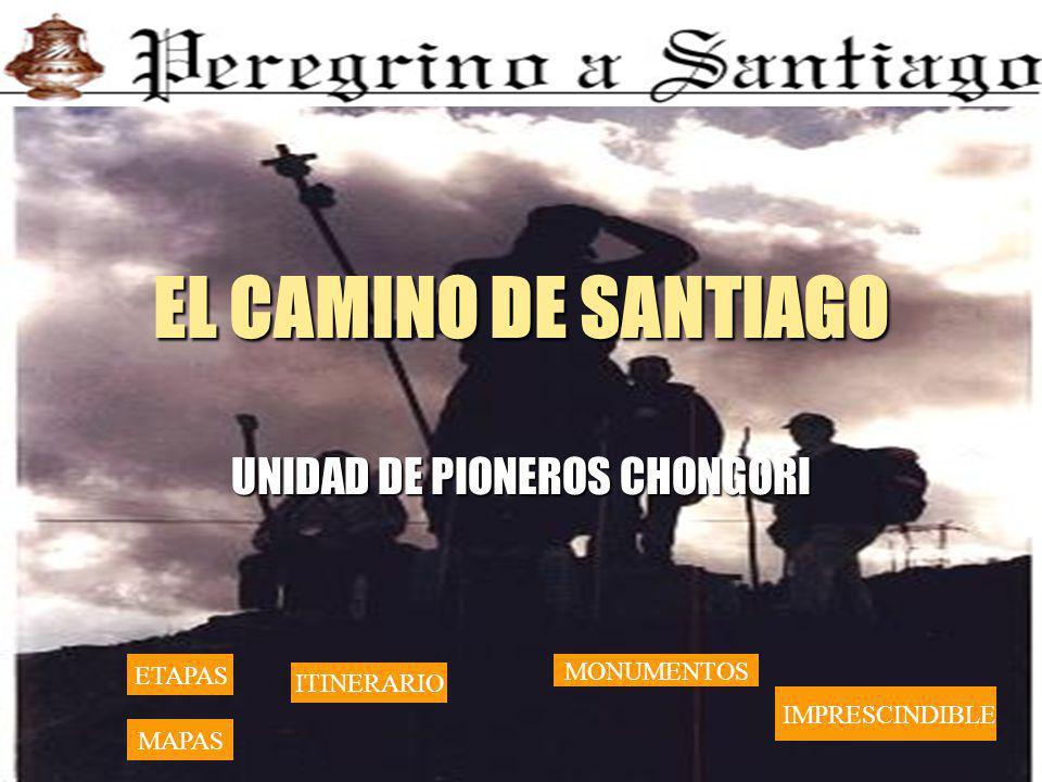 EL CAMINO DE SANTIAGO UNIDAD DE PIONEROS CHONGORI ETAPAS MAPAS MONUMENTOS ITINERARIO IMPRESCINDIBLE