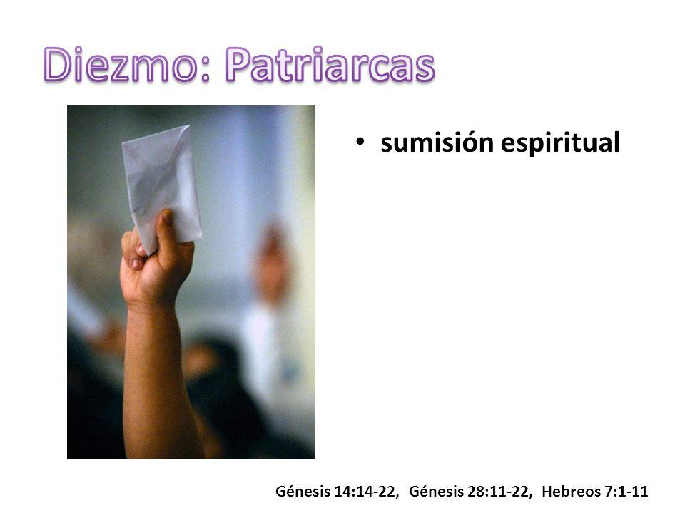 sumisión espiritual Génesis 14:14-22, Génesis 28:11-22, Hebreos 7:1-11