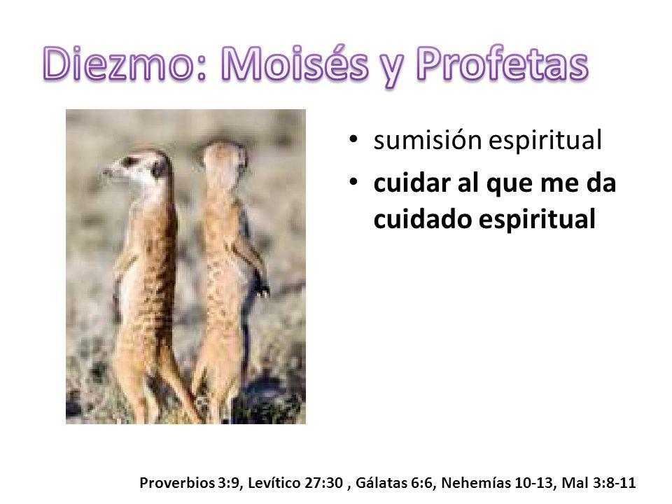 sumisión espiritual cuidar al que me da cuidado espiritual Proverbios 3:9, Levítico 27:30, Gálatas 6:6, Nehemías 10-13, Mal 3:8-11