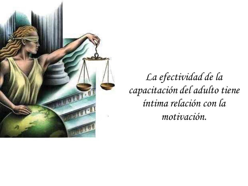 La efectividad de la capacitación del adulto tiene íntima relación con la motivación.