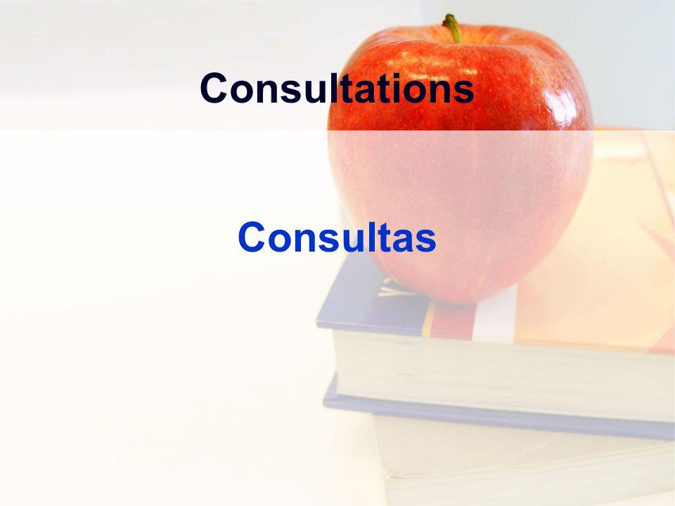 Consultations Consultas