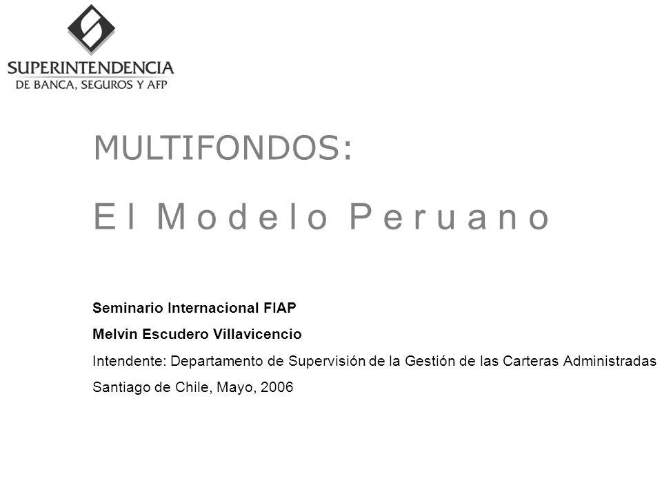 E l M o d e l o P e r u a n o Seminario Internacional FIAP Melvin Escudero Villavicencio Intendente: Departamento de Supervisión de la Gestión de las