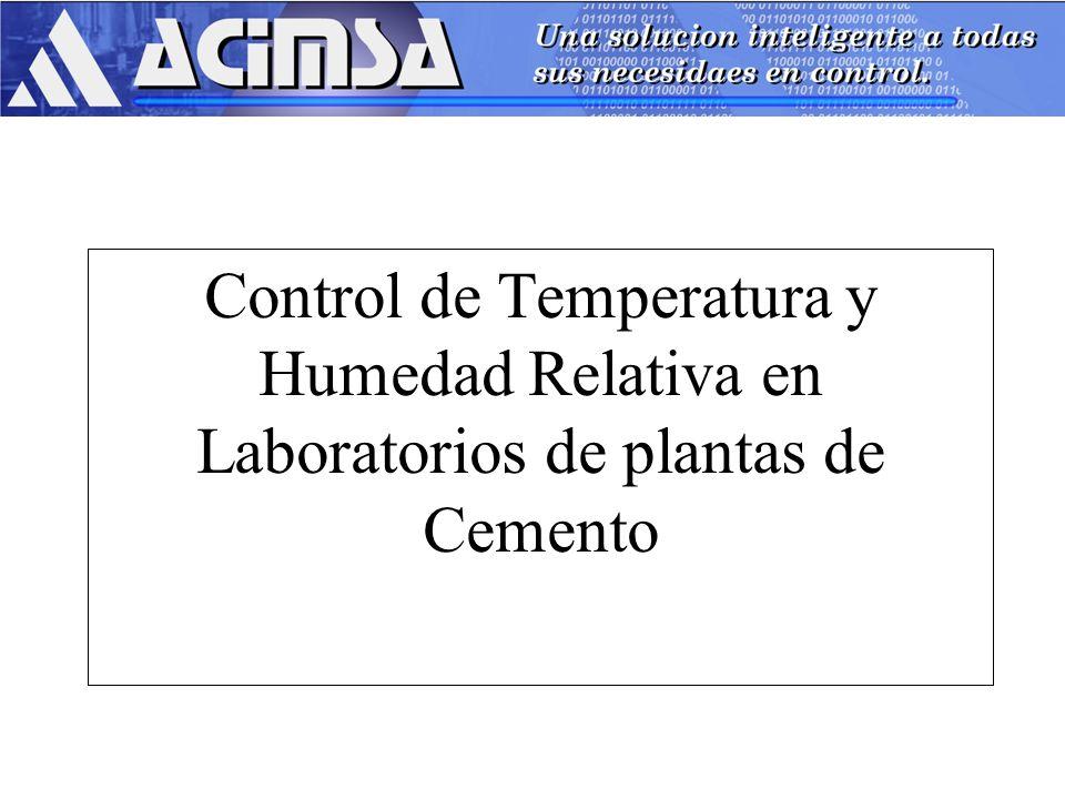 Control de Temperatura y Humedad Relativa en Laboratorios de plantas de Cemento