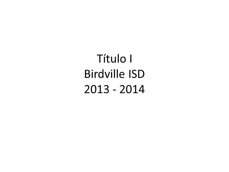 Título I Birdville ISD 2013 - 2014