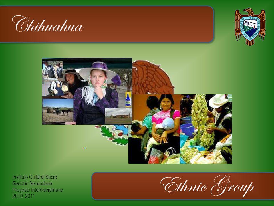 Instituto Cultural Sucre Sección Secundaria Proyecto Interdisciplinario 2010 -2011 Chihuahua Ethnic Group
