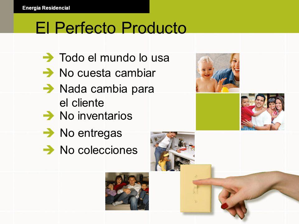 El Perfecto Producto Todo el mundo lo usa No cuesta cambiar Nada cambia para el cliente No inventarios No entregas No colecciones El Perfecto Producto
