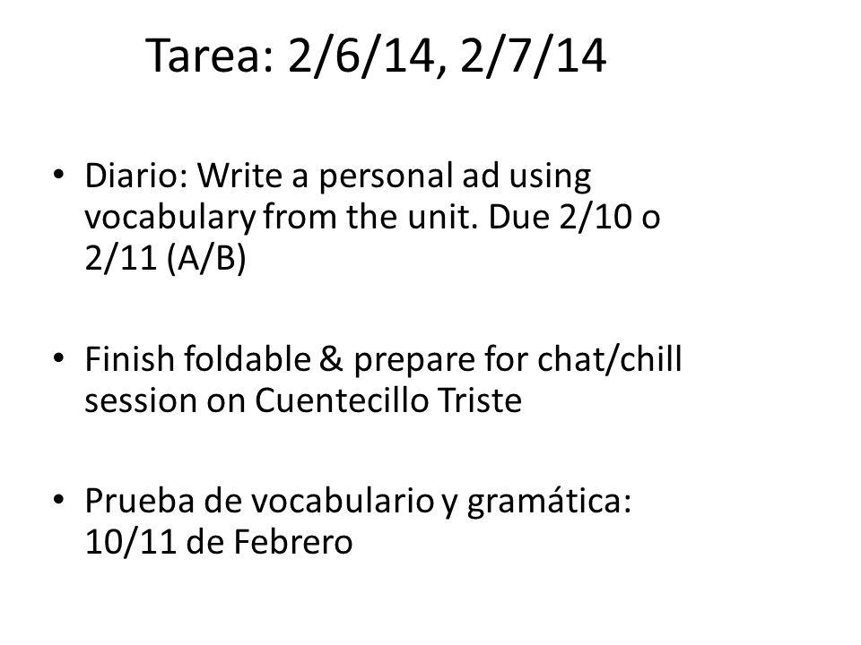 Tarea: 2/10/14, 2/11/14 Diario: Research the poet, Pablo Neruda.