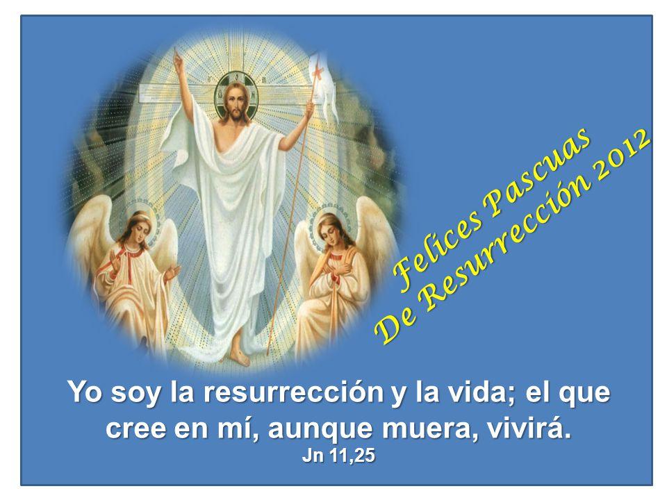 Yo soy la resurrección y la vida; el que cree en mí, aunque muera, vivirá. Jn 11,25 Felices Pascuas De Resurrección 2012