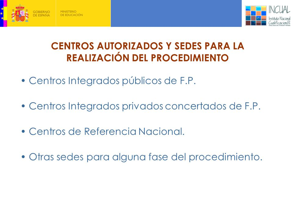 Centros Integrados públicos de F.P.