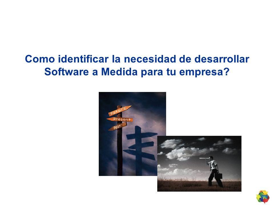 Como identificar la necesidad de desarrollar Software a Medida para tu empresa?