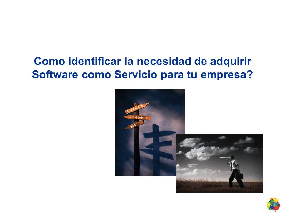 Como identificar la necesidad de adquirir Software como Servicio para tu empresa?