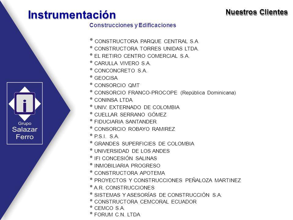 Construcciones y Edificaciones CONSTRUCTORA PARQUE CENTRAL S.A CONSTRUCTORA TORRES UNIDAS LTDA. EL RETIRO CENTRO COMERCIAL S.A. CARULLA VIVERO S.A. CO