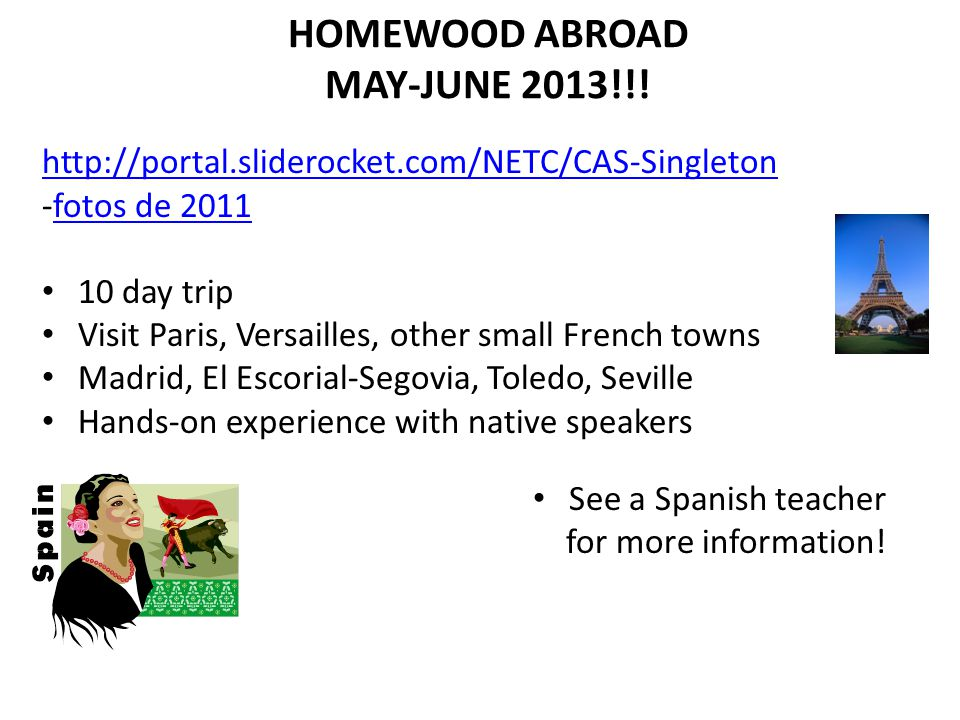 HOMEWOOD ABROAD MAY-JUNE 2013!!.