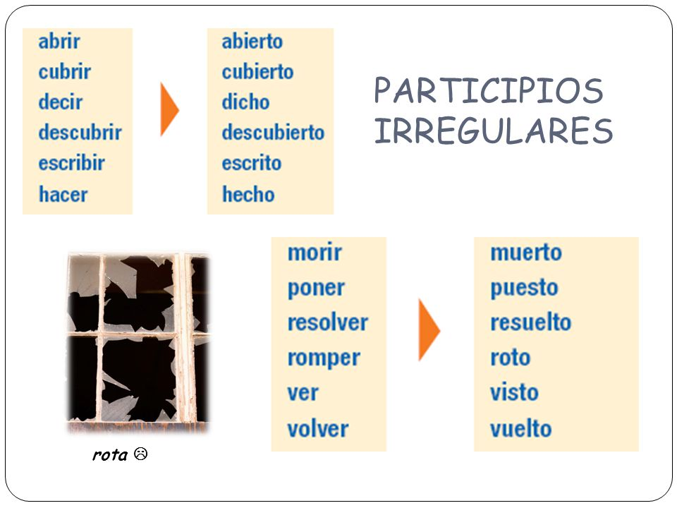 PARTICIPIOS IRREGULARES rota