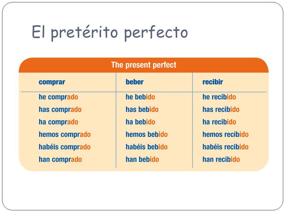 El pretérito perfecto