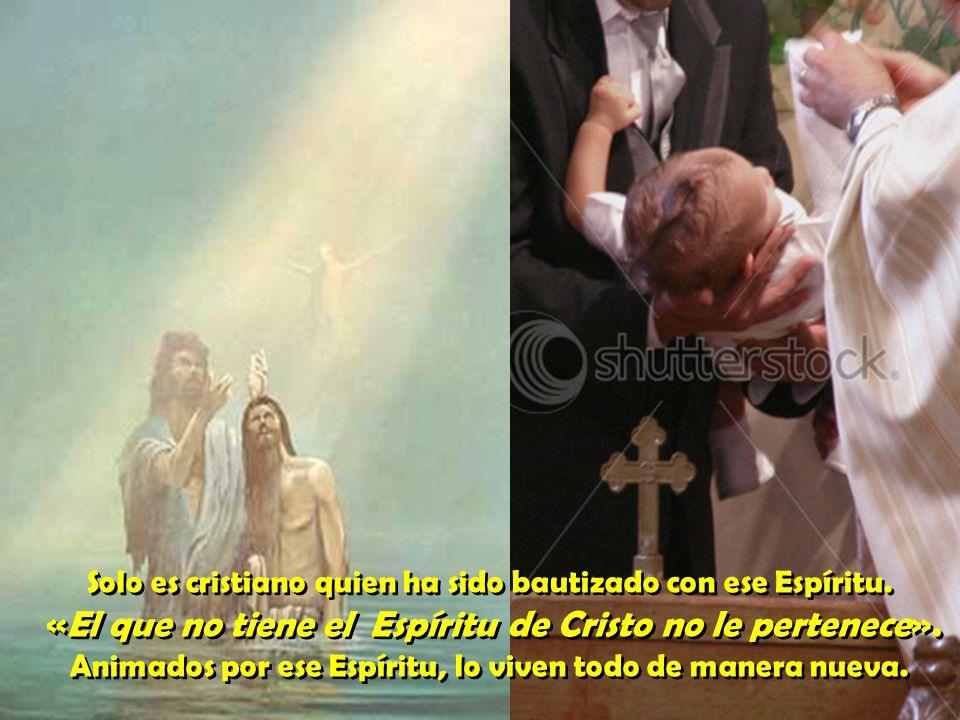 Solo es cristiano quien ha sido bautizado con ese Espíritu.