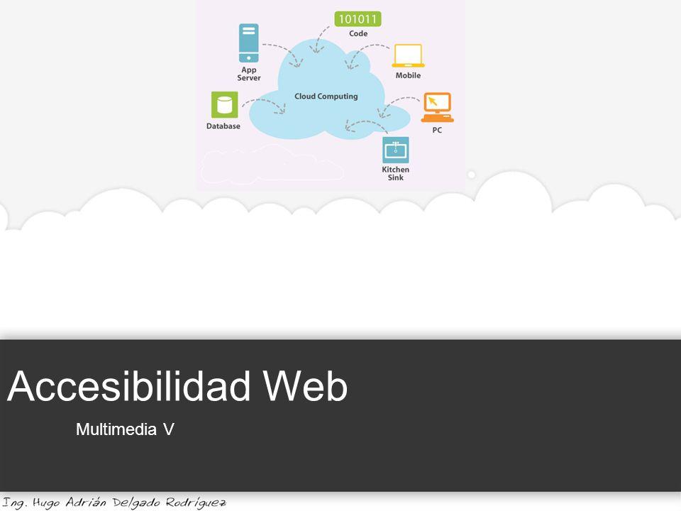 Accesibilidad Web Multimedia V Universidad de Guadalajara | Centro Universitario de la Costa El usuario que entre en esta página no verá absolutamente nada y por tanto abandonará el sitio web.