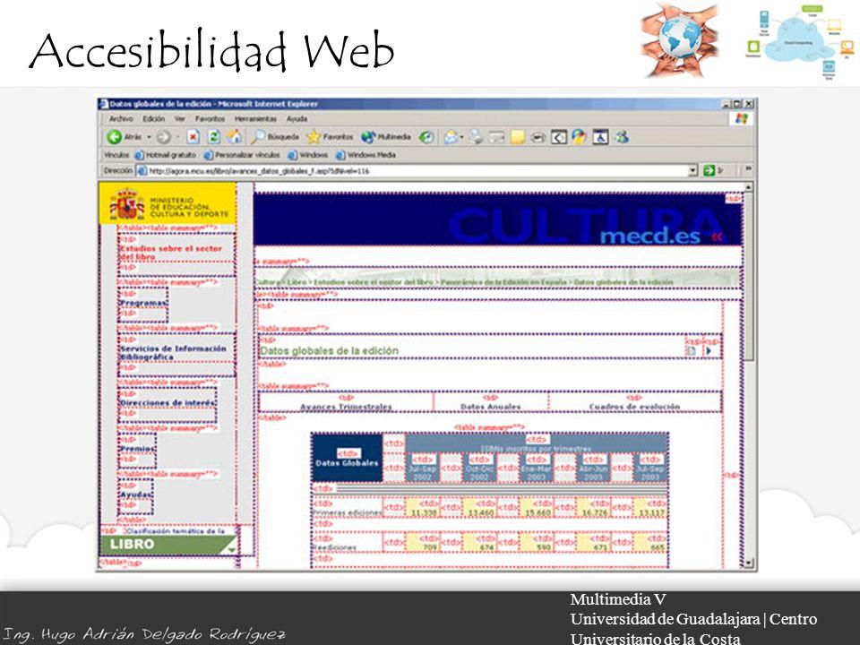 Accesibilidad Web Multimedia V Universidad de Guadalajara | Centro Universitario de la Costa