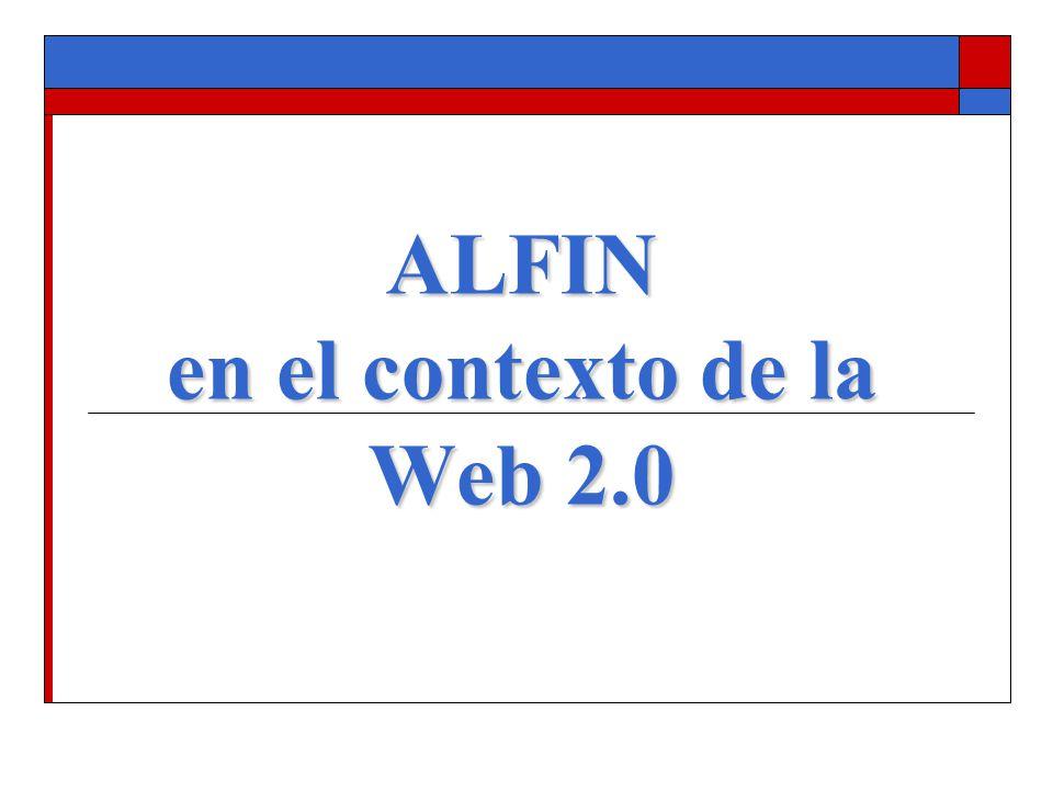 ALFIN en el contexto de la Web 2.0