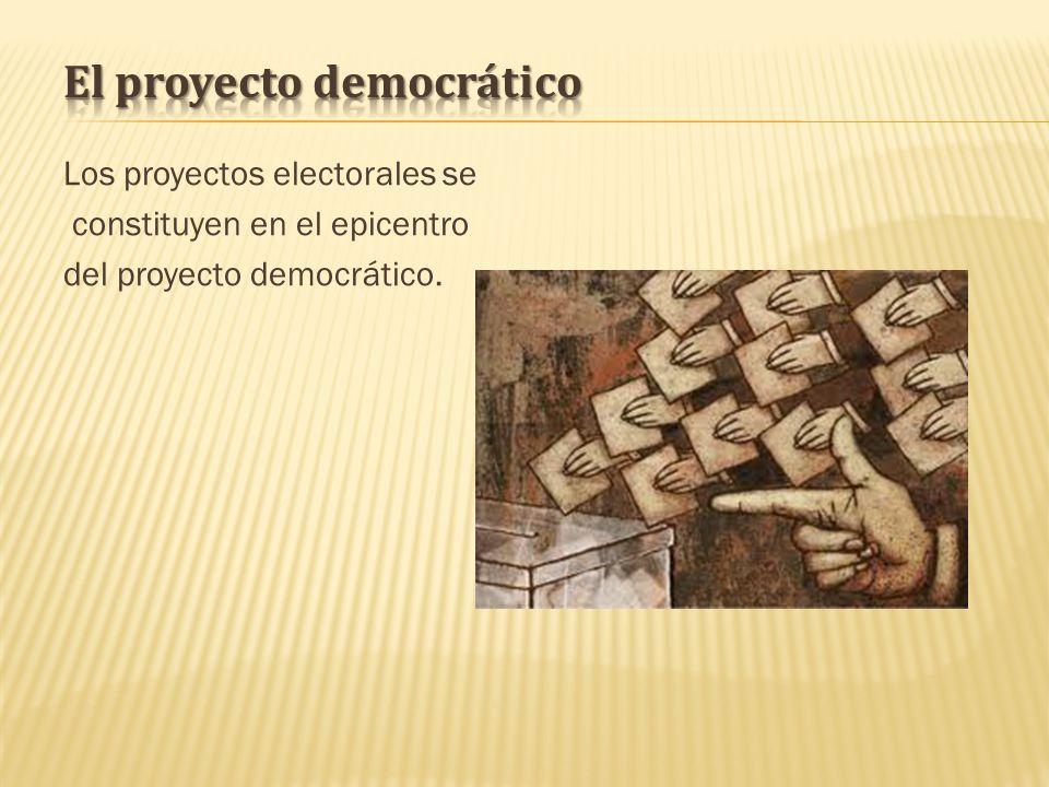 Los proyectos electorales se constituyen en el epicentro del proyecto democrático.
