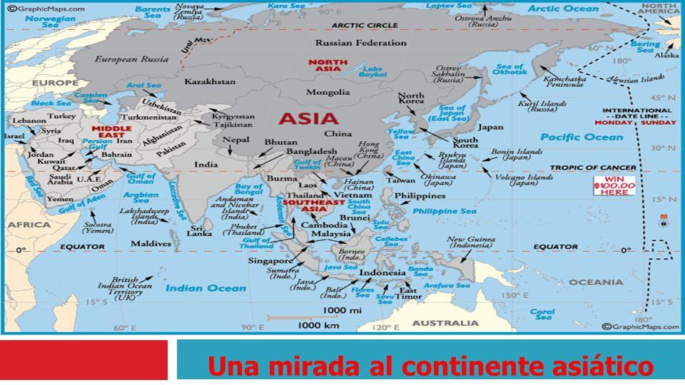 Una mirada al continente asiático