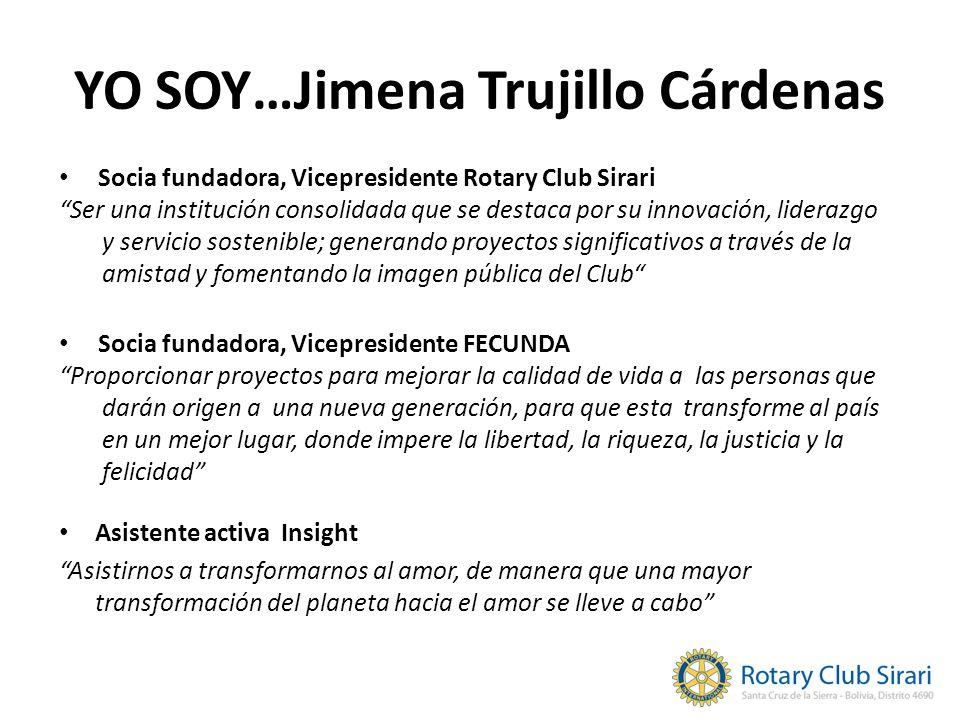 YO SOY…Jimena Trujillo Cárdenas Asistente activa Insight Asistirnos a transformarnos al amor, de manera que una mayor transformación del planeta hacia
