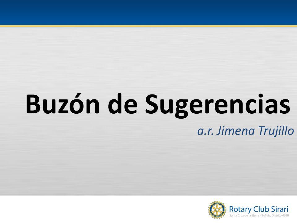 Buzón de Sugerencias a.r. Jimena Trujillo