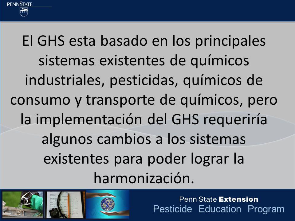 Pesticide Education Program La EPA toma en cuenta que esto puede requerir a los usuarios de las SDS capacitados para productos pesticidas tengan que familiarizarse con dos sistemas diferentes, por lo menos en lo que los requisitos de las agencias estén armonizados.