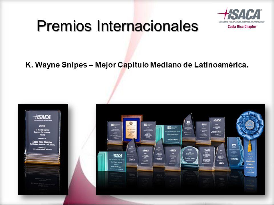 Premios Internacionales K. Wayne Snipes – Mejor Capítulo Mediano de Latinoamérica.