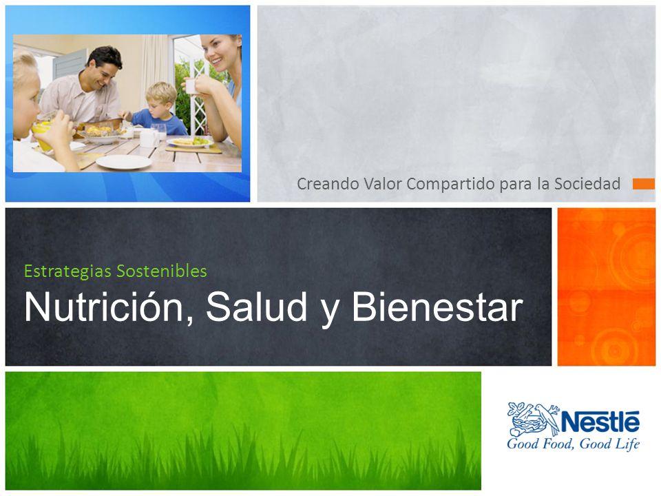 Creando Valor Compartido para la Sociedad Estrategias Sostenibles Nutrición, Salud y Bienestar