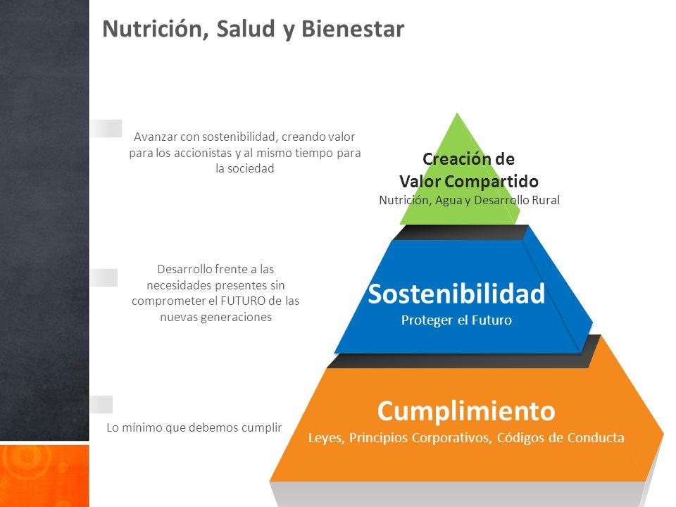 Nutrición, Salud y Bienestar Lo mínimo que debemos cumplir Desarrollo frente a las necesidades presentes sin comprometer el FUTURO de las nuevas gener