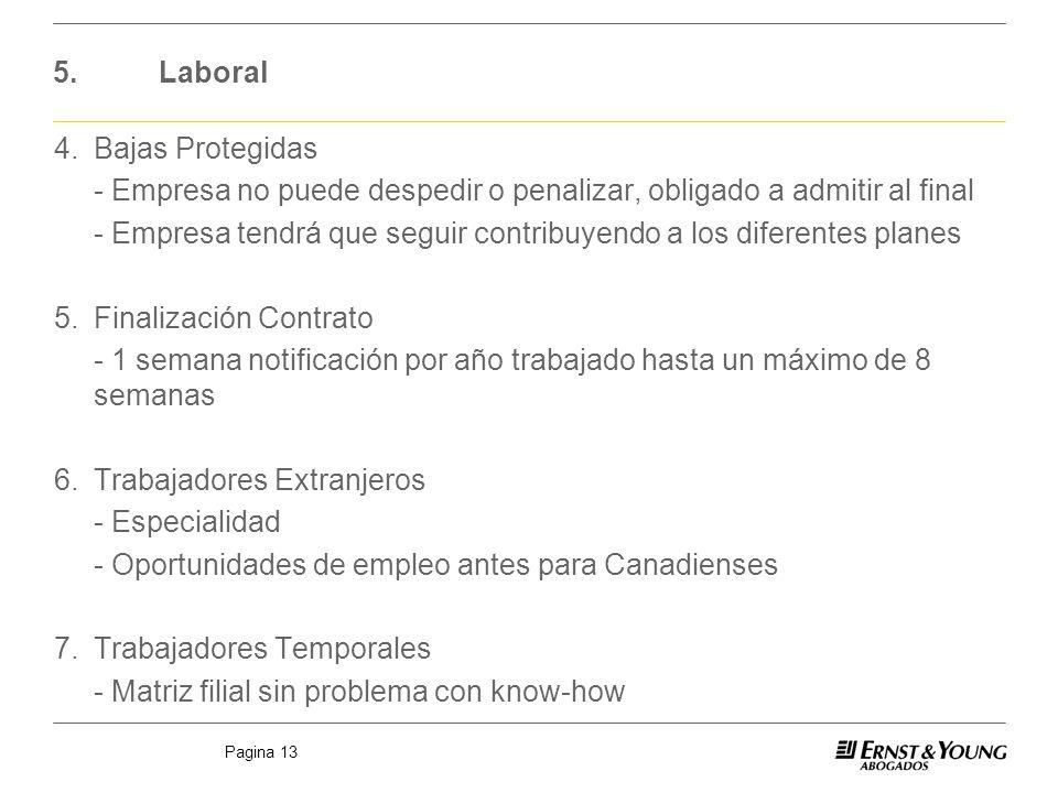 Pagina 13 5.Laboral 4.Bajas Protegidas - Empresa no puede despedir o penalizar, obligado a admitir al final - Empresa tendrá que seguir contribuyendo
