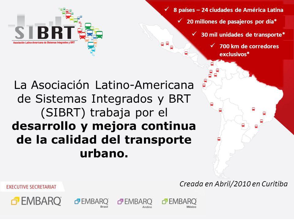 24 Agencias Gestoras de 8 países Tuzobus Belém Natal Medellín Cartagena