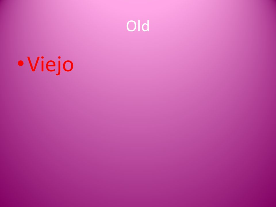 Old Viejo