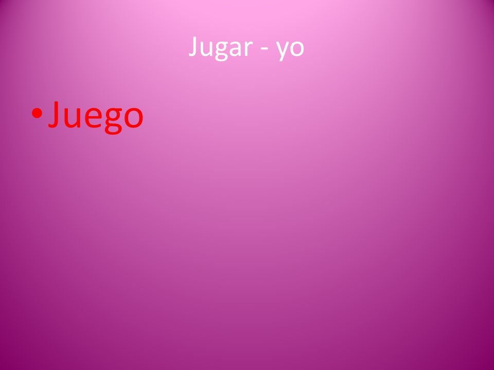 Jugar - yo Juego