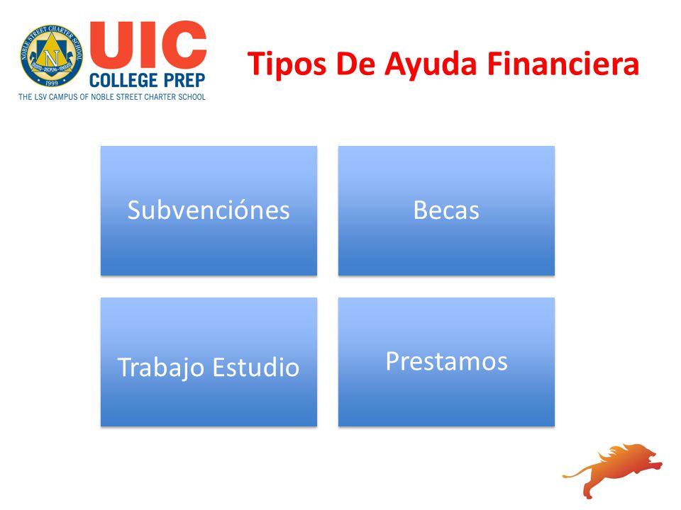 Tipos De Ayuda Financiera SubvenciónesBecas Trabajo Estudio Prestamos