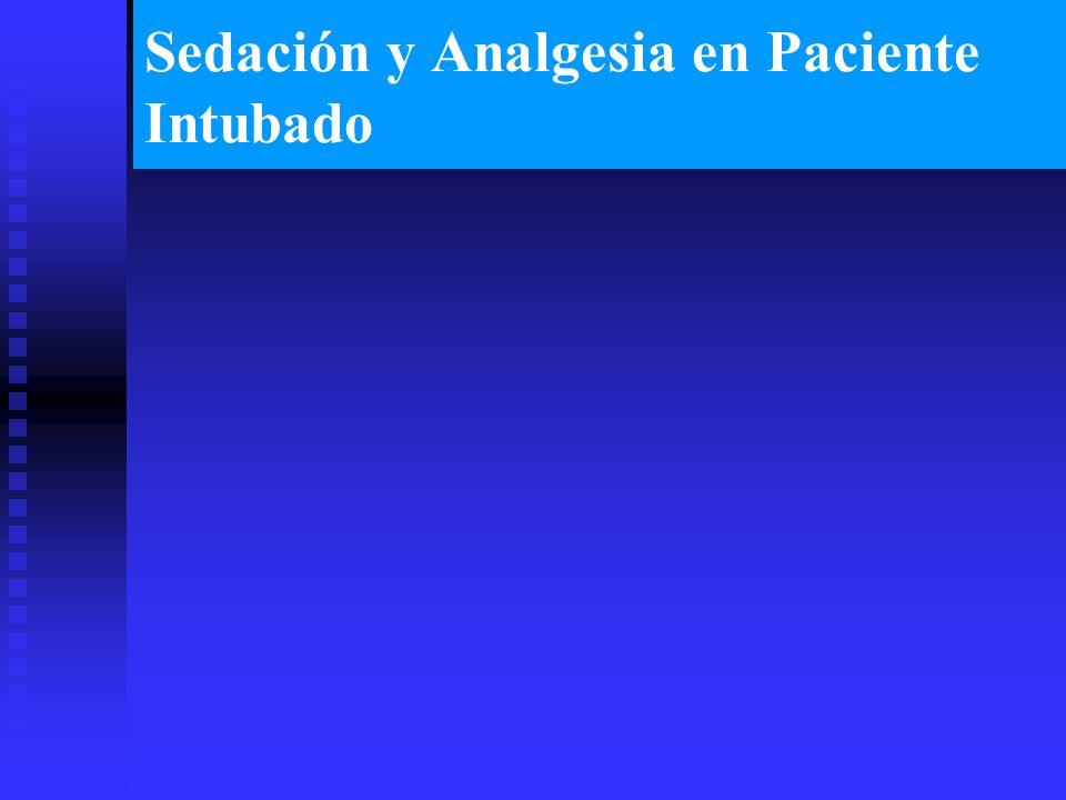 Sedación y Analgesia en Paciente Intubado