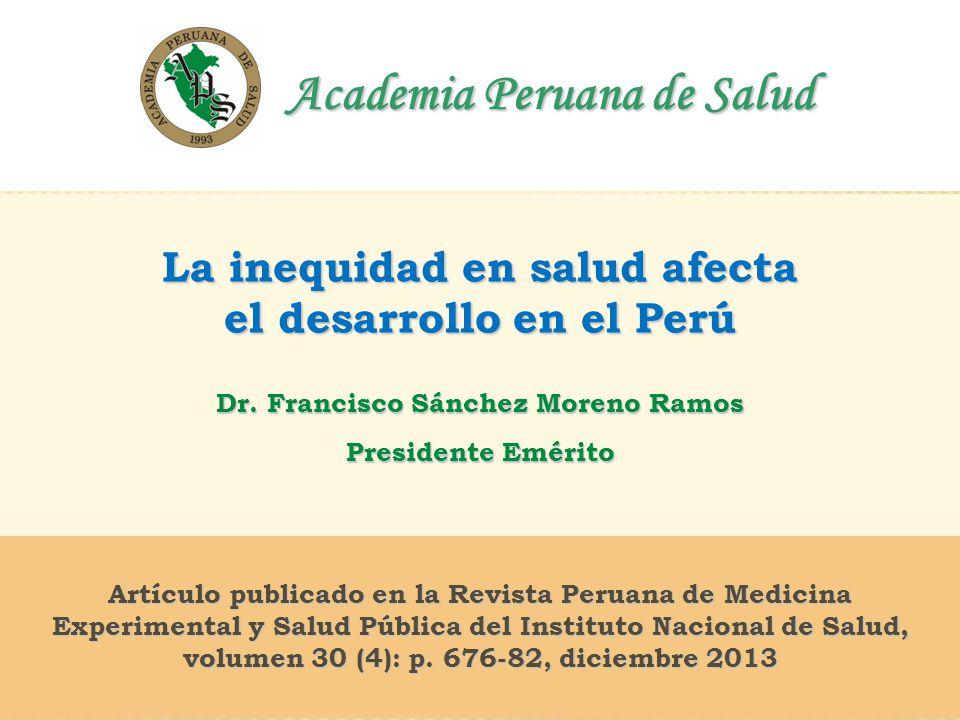 1 Academia Peruana de Salud Academia Peruana de Salud Artículo publicado en la Revista Peruana de Medicina Experimental y Salud Pública del Instituto Nacional de Salud, volumen 30 (4): p.