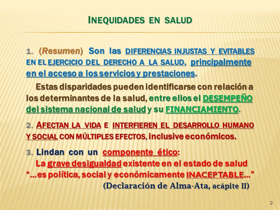 I NEQUIDAD MUNDIAL Y NACIONAL 1.
