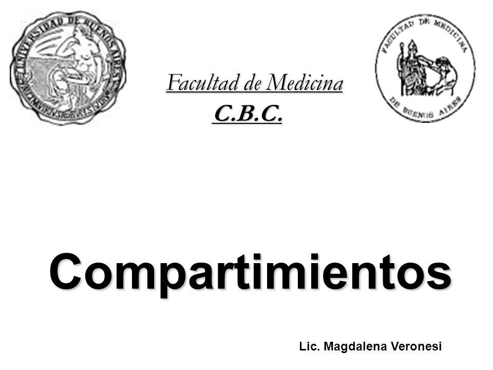 Compartimientos C.B.C. Facultad de Medicina Universidad de Buenos Aires Lic. Magdalena Veronesi