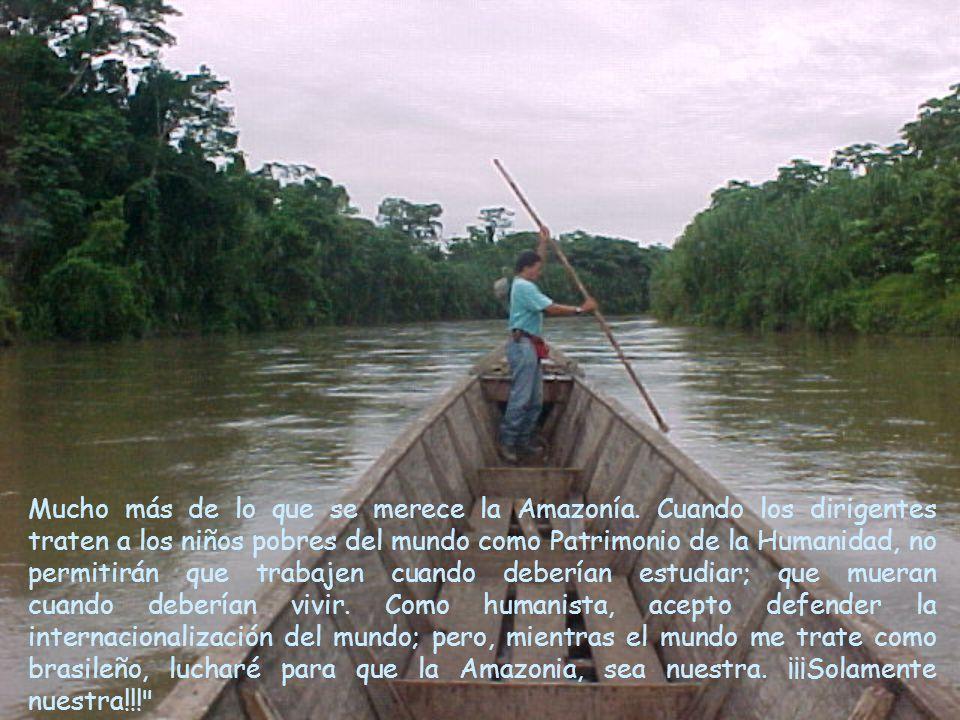 Mucho más de lo que se merece la Amazonía.
