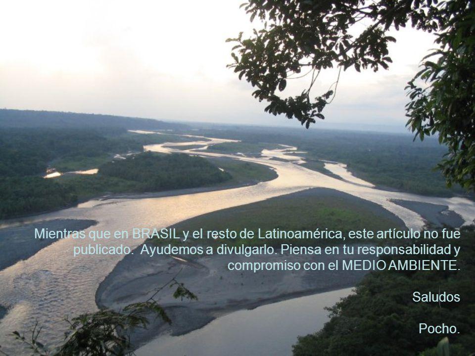 Mientras que en BRASIL y el resto de Latinoamérica, este artículo no fue publicado.