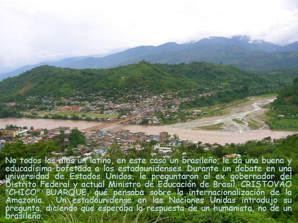 Realmente, como brasileño, sólo hablaría en contra de la internacionalización de la Amazonía.